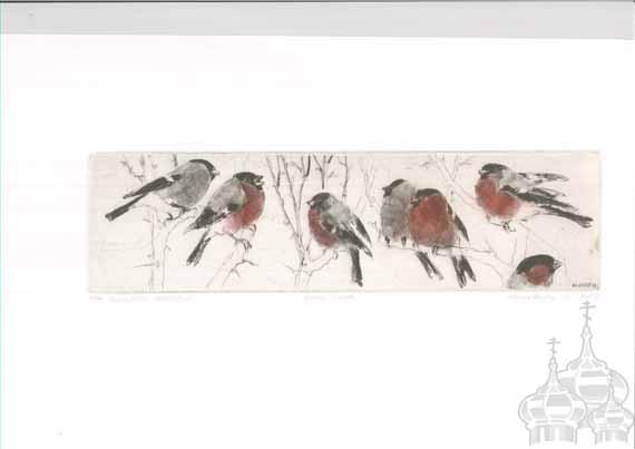 makoveeva Bullfinches Family