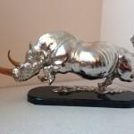 Rinoceros in silver