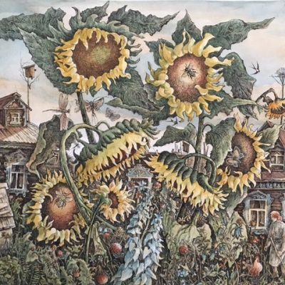 August Landscape with Mother and Sunflowers